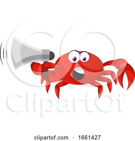 Crab Holding Megaphone by Morphart Creations
