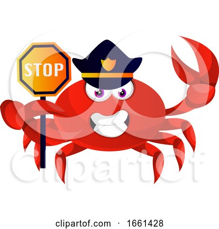 Crab in Police Uniform by Morphart Creations