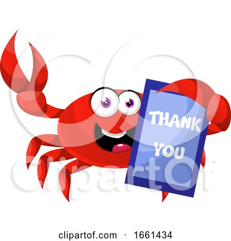 Crab with Thank You Sign by Morphart Creations