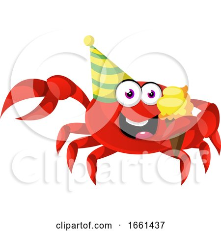 Crab with Ice Cream by Morphart Creations