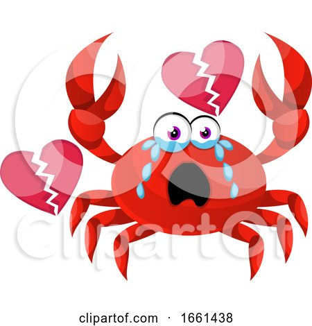 Crab with Broken Heart by Morphart Creations