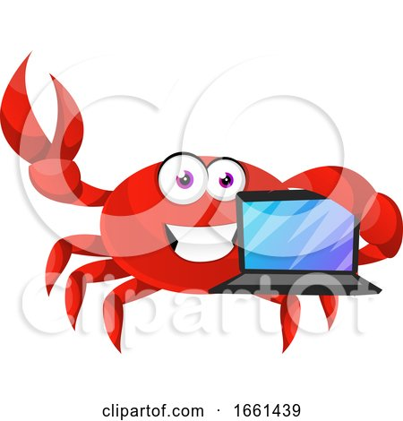 Crab with Lap Top by Morphart Creations