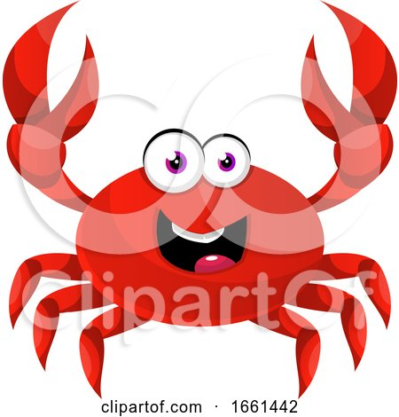 Happy Red Crab by Morphart Creations