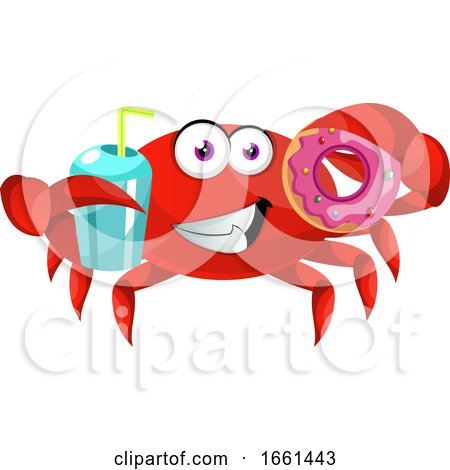 Crab with Donut by Morphart Creations