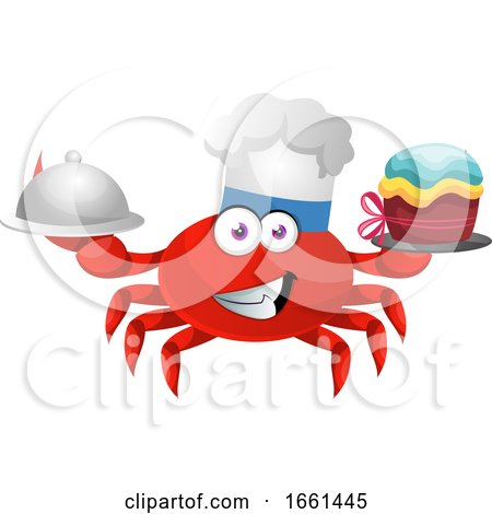 Crab with Birthday Cake by Morphart Creations