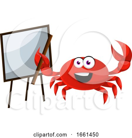 Crab with Blackboard by Morphart Creations