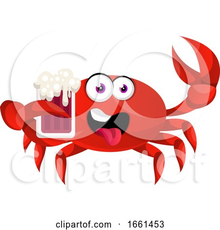 Crab with Beer by Morphart Creations
