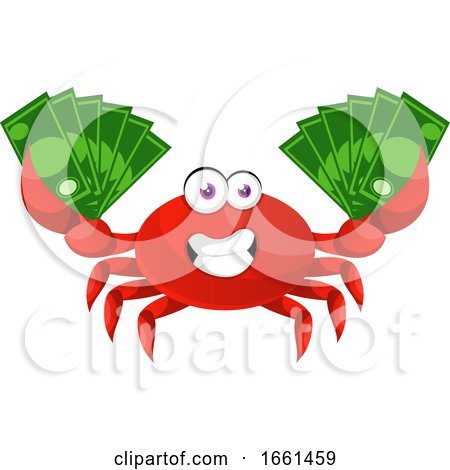 Crab with Money by Morphart Creations