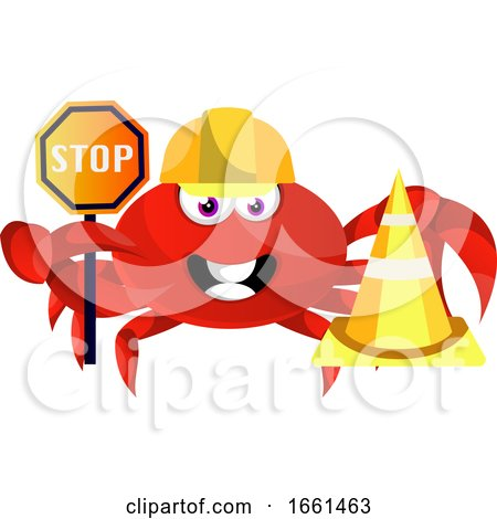 Crab with Stop Sign by Morphart Creations