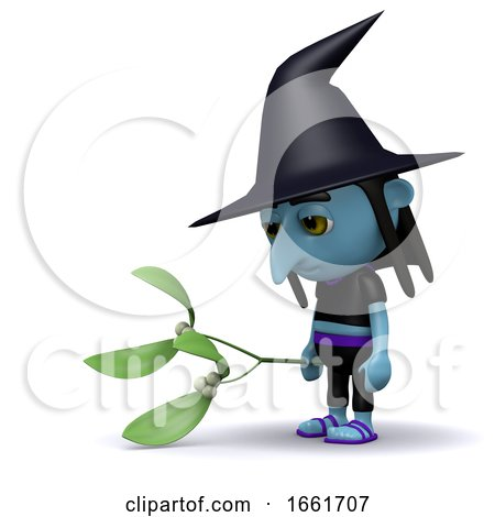 3d Witch in the Wrong Season Posters, Art Prints