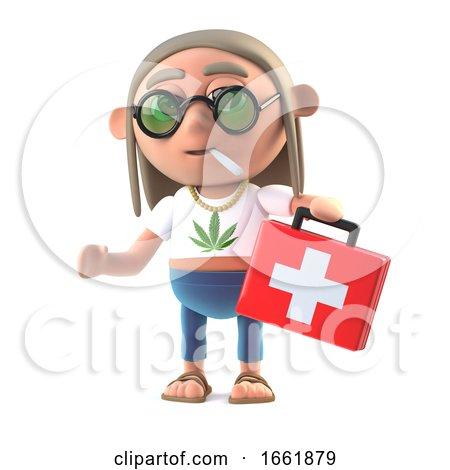 3d Hippie Stoner Brings Medicine Posters, Art Prints