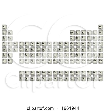 Periodic Table of Elements Streamlined by Steve Young