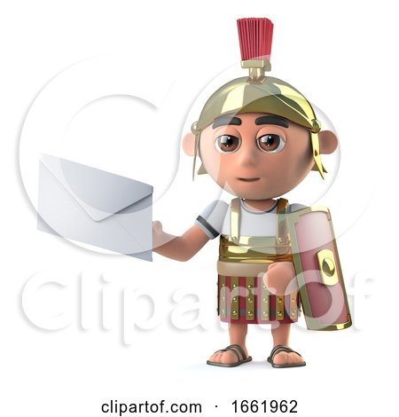 3d Roman Centurion Has Mail by Steve Young