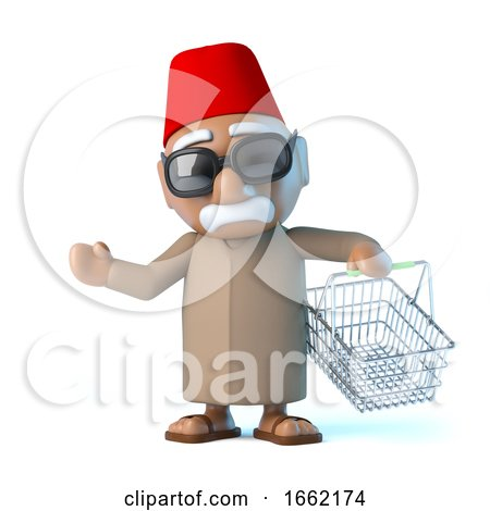 3d Moroccan Goes Shopping by Steve Young