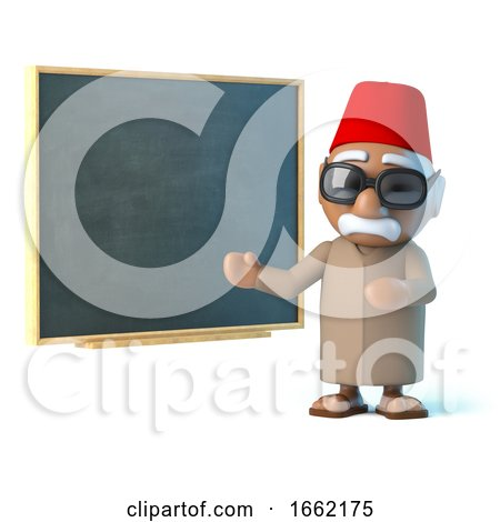 3d Moroccan Teaches at the Blackboard by Steve Young