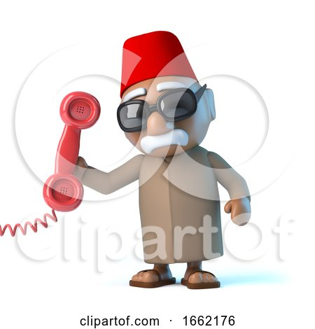 3d Moroccan Answers the Phone by Steve Young