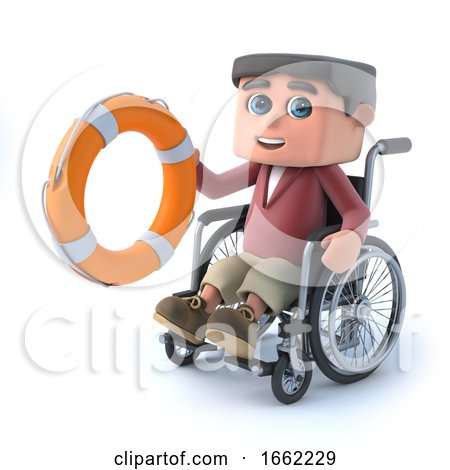 3d Boy in a Wheelchair Comes to the Rescue by Steve Young