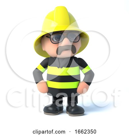 3d Fireman Strikes a Pose by Steve Young
