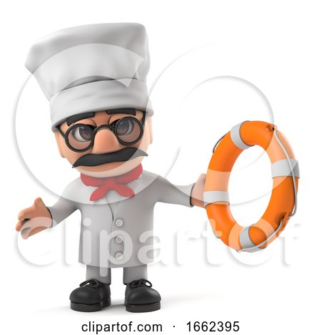 3d Funny Italian Pizza Chef Character Comes to the Rescue by Steve Young