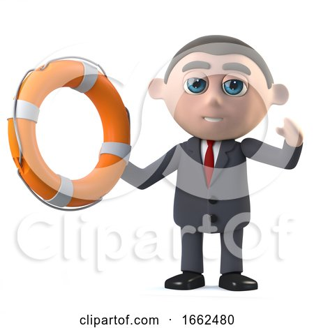 3d Businessman Comes to the Rescue by Steve Young