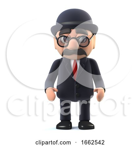3d Bowler Hatted British Businessman by Steve Young