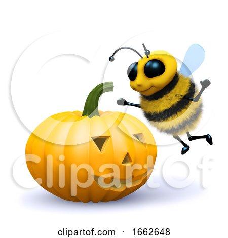 3d Bee Halloween Pumpkin by Steve Young