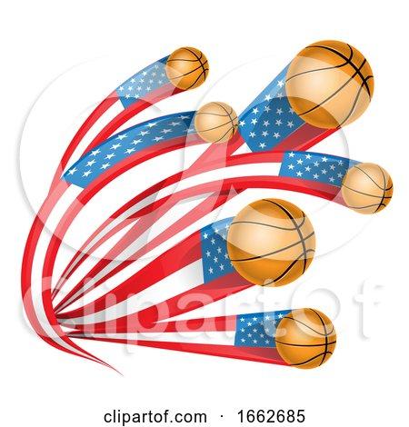 Basketballs with American Flag Tails by Domenico Condello