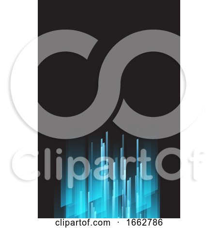 Blue and Back Business Card Background by KJ Pargeter