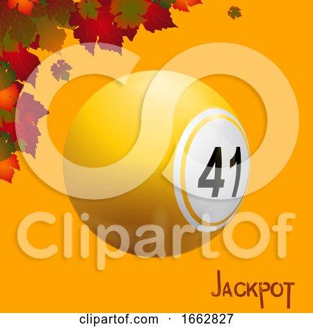 Autumn Bingo Lottery Ball and Leafs Jackpot by elaineitalia