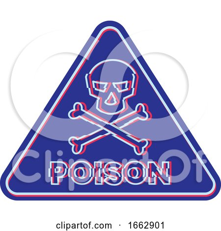 Poison Symbol Neon Flickering Icon by patrimonio