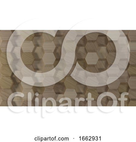 3D Geometric Abstract Hexagonal Wallpaper Background by KJ Pargeter