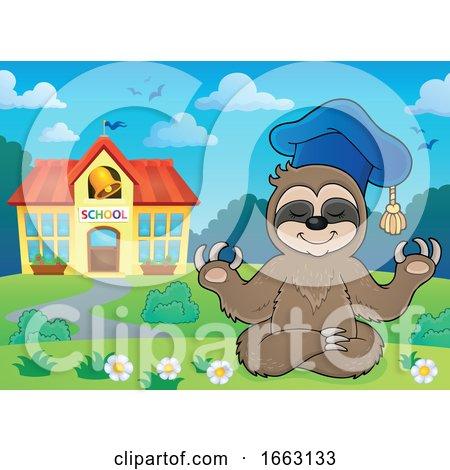 Meditating Professor Sloth by visekart