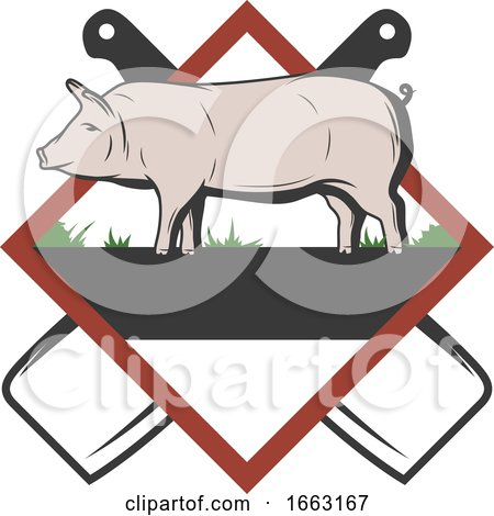 Pig and Knives by Vector Tradition SM
