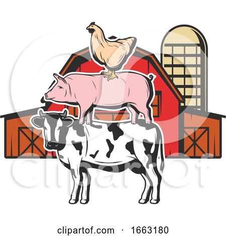 Chicken Pig and Cow Posters, Art Prints