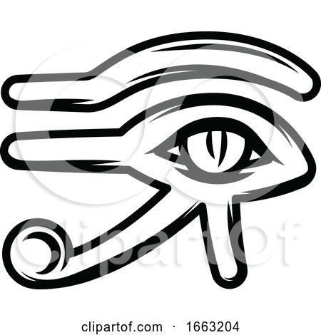 Black and White Egyptian Eye of Horus by Vector Tradition SM