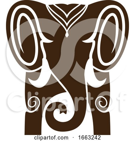 Indian Elephant by Vector Tradition SM
