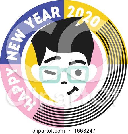 Happy New Year 2020 Design by elena