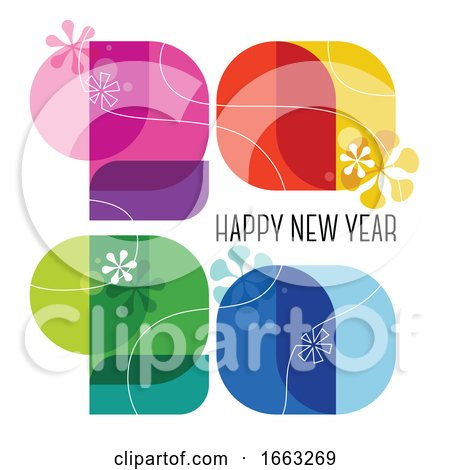 Happy New Year 2020 Design by elena