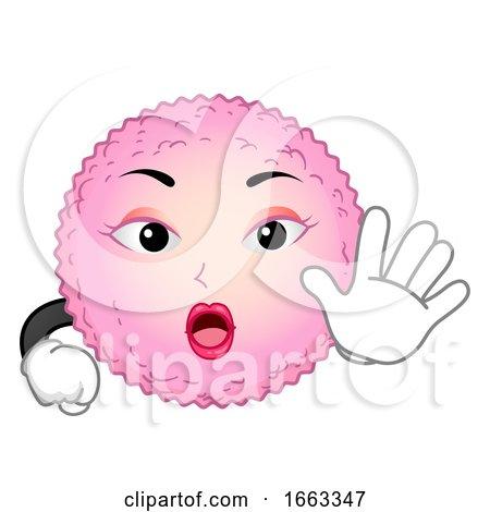 Mascot Egg Cell Stop Illustration by BNP Design Studio