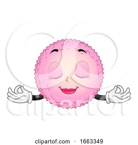 Mascot Egg Cell Yoga Illustration by BNP Design Studio