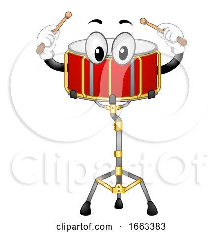 Mascot Snare Drum Illustration by BNP Design Studio