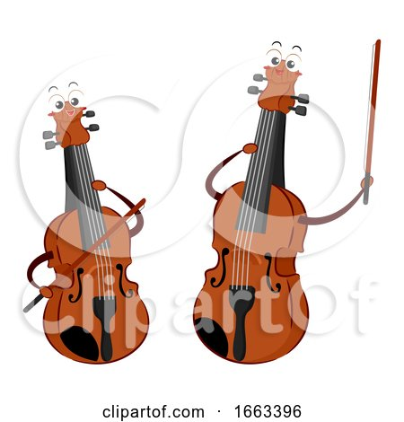 Mascot Violin and Viola Illustration by BNP Design Studio