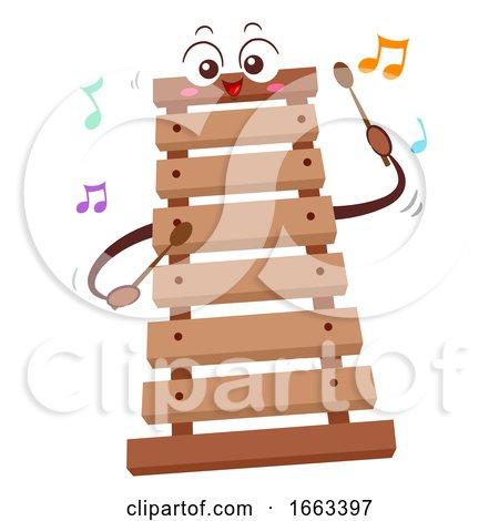 Mascot Wooden Xylophone Illustration by BNP Design Studio