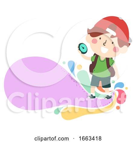Kid Boy Compass Explore Illustration by BNP Design Studio