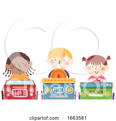 Kids Box Car Movie Night Illustration by BNP Design Studio