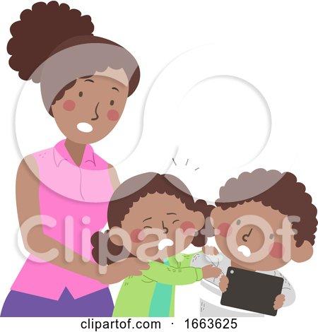 Kids Mom Small Problem Not Sharing Illustration by BNP Design Studio
