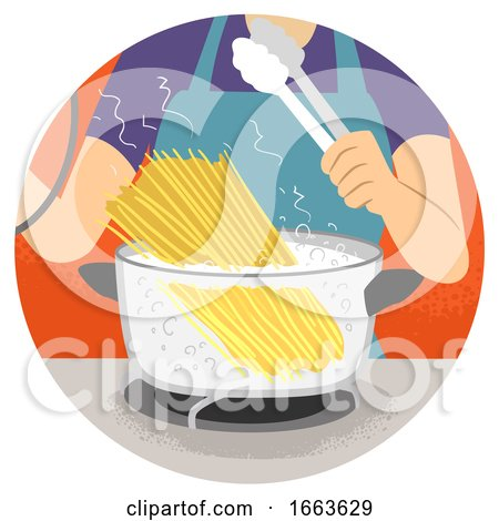Hand Kitchen Verb Boil Illustration by BNP Design Studio