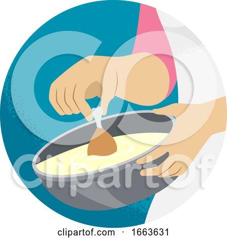 Hand Kitchen Verb Dip Illustration by BNP Design Studio