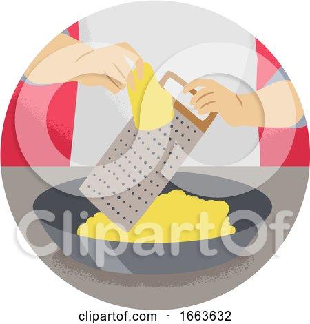 Hand Kitchen Verb Grate Illustration by BNP Design Studio