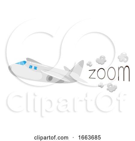 Airplane Onomatopoeia Sound Zoom Illustration by BNP Design Studio
